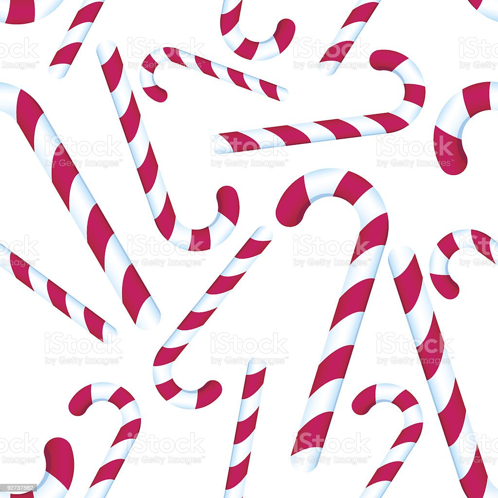 Candy Cane Pattern Stock Vector Art More Images Of Backgrounds
