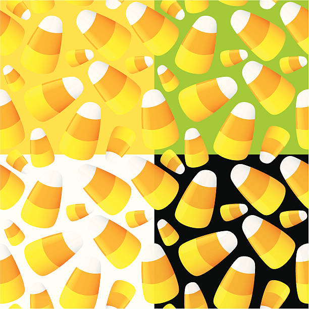 Candy Corn Seamless Pattern. vector art illustration