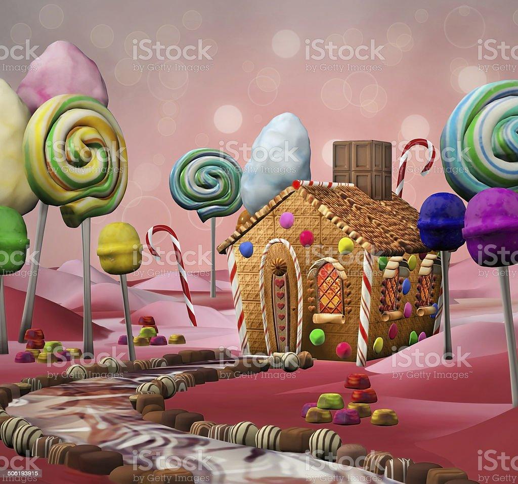 Candy land vector art illustration