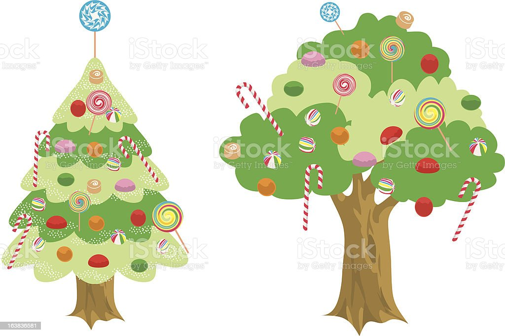 Candy Tree royalty-free stock vector art