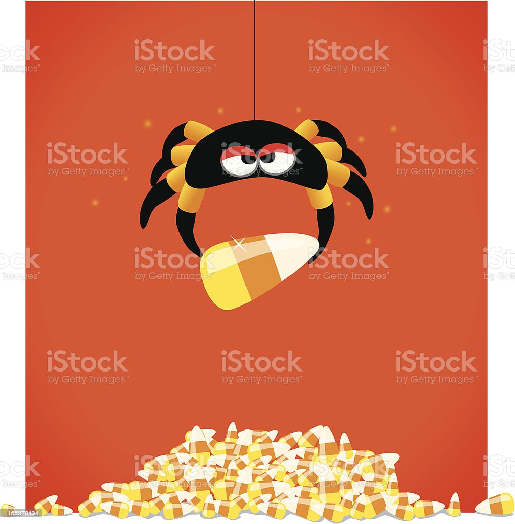 Candycorn spider - Royalty-free Autumn stock vector
