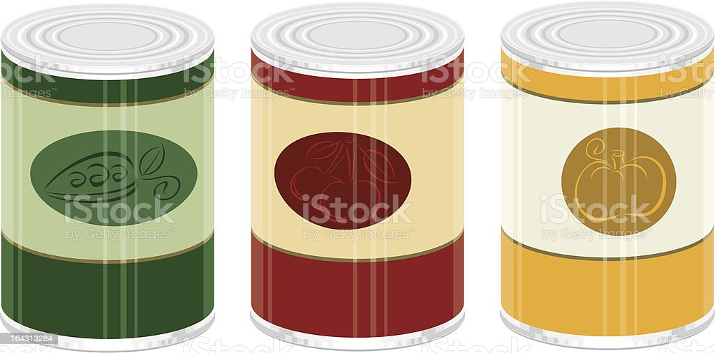 Canned Foods vector art illustration