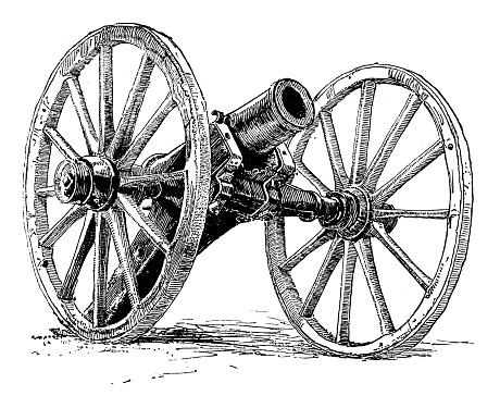 Cannon - Scanned 1887 Engraving