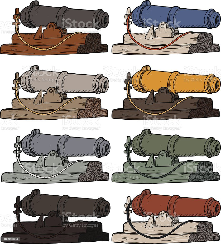 Cannons royalty-free stock vector art
