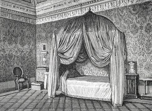 Yatak Odası Papa Pius Ix Illustration 1873 Earth Ve Onun Insanlar Içinde Gölgelik Yatak Stok Vektör Sanatı & 1873'nin Daha Fazla Görseli