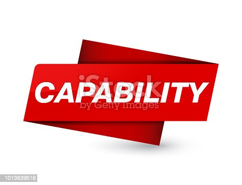 Capability isolated on premium red tag sign abstract illustration