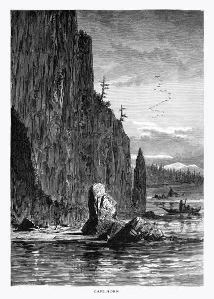 Stock Photo of Latourell Falls, Columbia River Gorge ... |Clipart Columbia Gorge