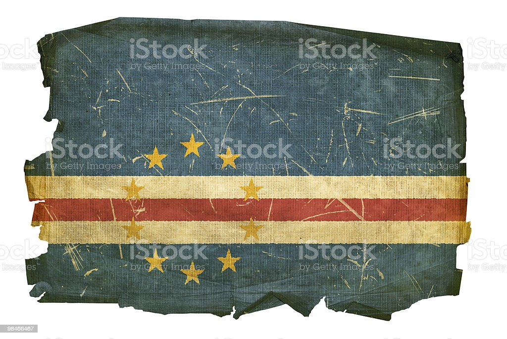 Cape Verde Flag old, isolated on white background royalty-free cape verde flag old isolated on white background stock vector art & more images of aging process