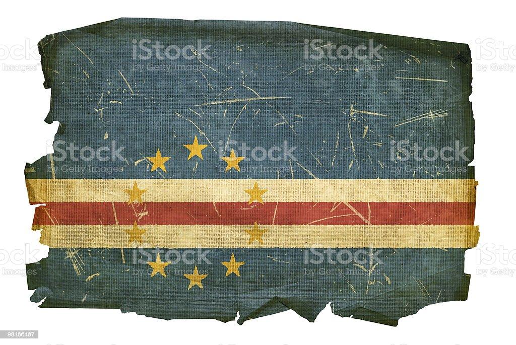Vecchia Bandiera di Capo Verde, isolato su sfondo bianco vecchia bandiera di capo verde isolato su sfondo bianco - immagini vettoriali stock e altre immagini di abbigliamento royalty-free