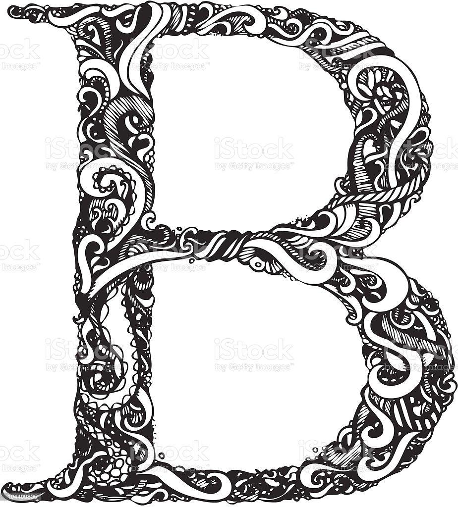 Assez Lettre Majuscule Belegant Swirly Vintage Style Stock Vecteur  FA37