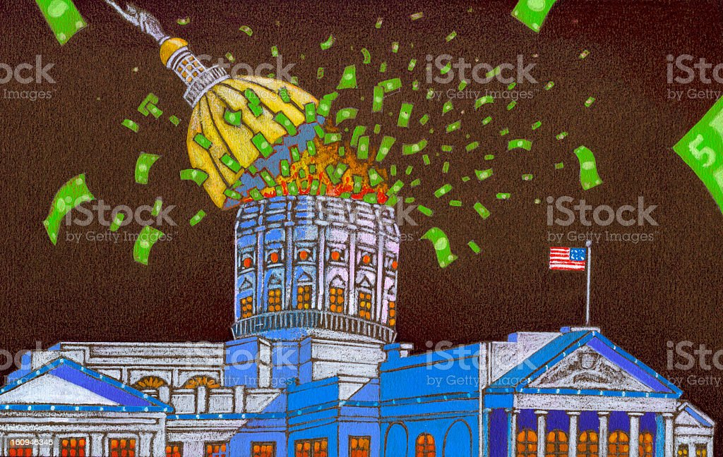 Capital Spending - Government Waste vector art illustration