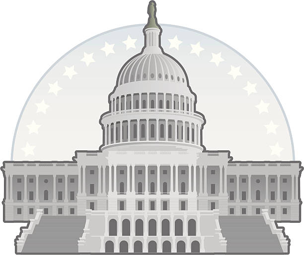 capitol building - abgeordnetenhaus stock-grafiken, -clipart, -cartoons und -symbole