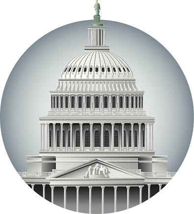 Capitol Dome-vektorgrafik och fler bilder på Arkitektonisk kolonn