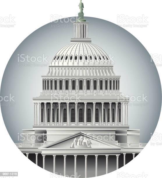 Купол Капитолия — стоковая векторная графика и другие изображения на тему Архитектура