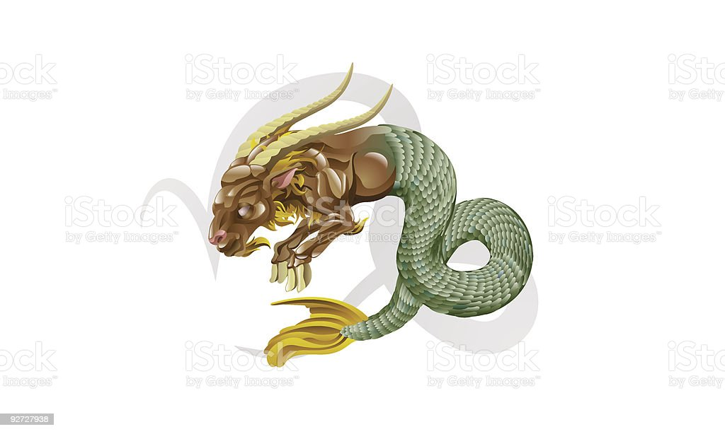 Capricorn the sea goat star sign royalty-free capricorn the sea goat star sign stock vector art & more images of animal