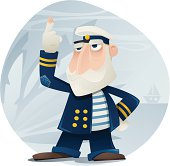 Illustration of an old captain. Captain and background are grouped and layered separately. JPG file in a high resolution also available.