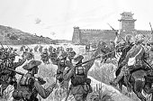 Capture of a Chinese fort by German troops