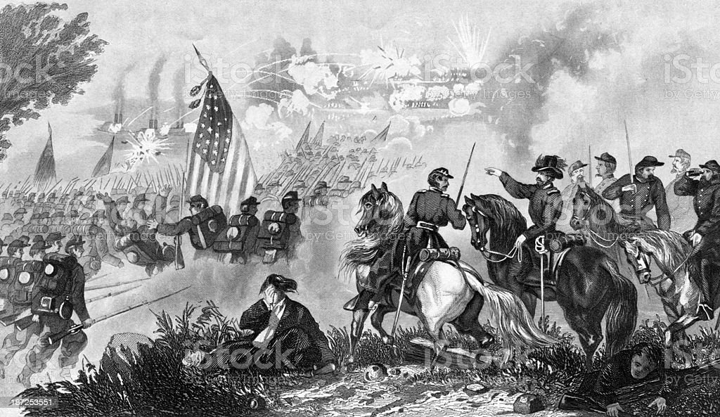 Capture Of Fort Donelson vector art illustration