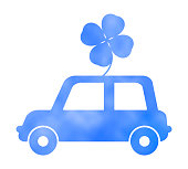 Car and clover