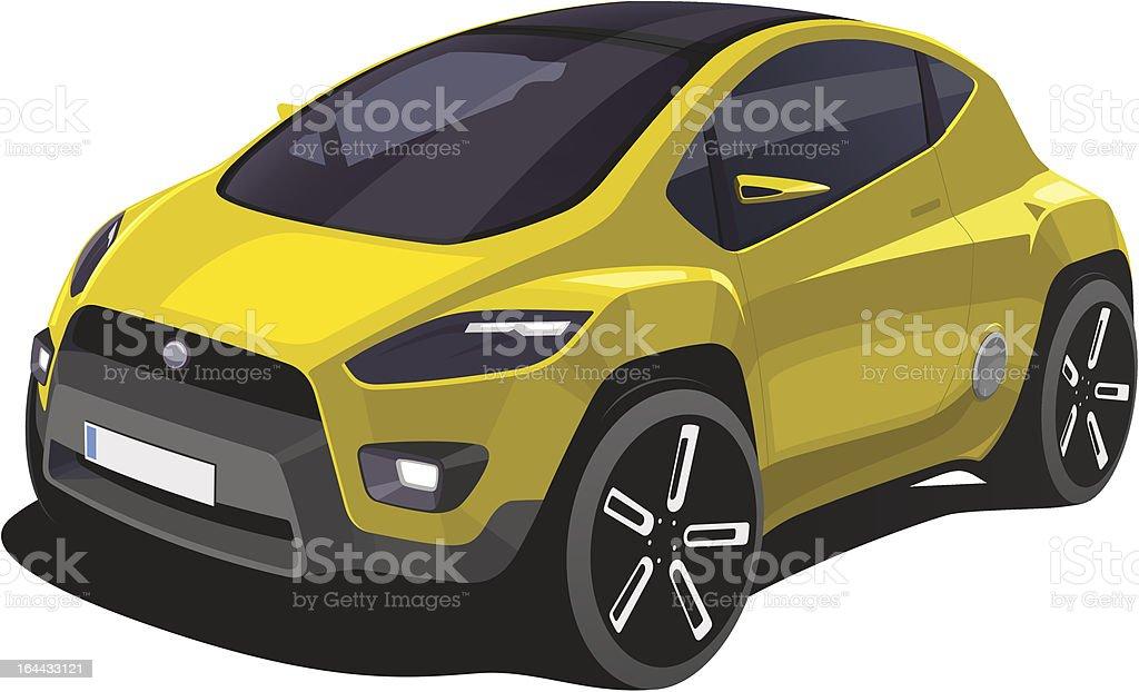 Car Design Drawing vector art illustration