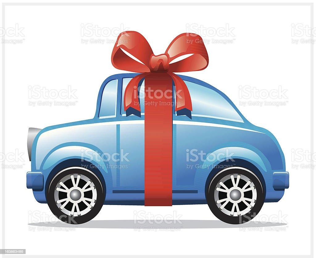 Car Gift royalty-free stock vector art
