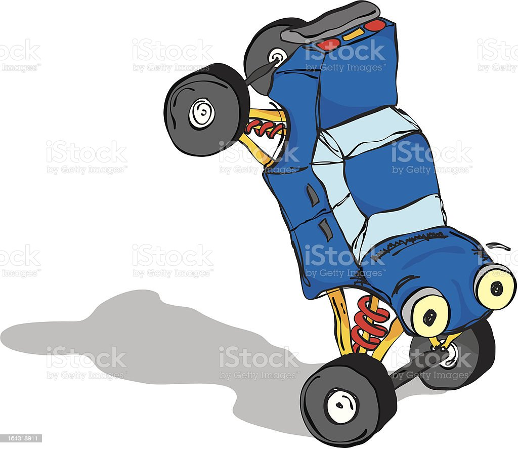 Car Handstand royalty-free stock vector art