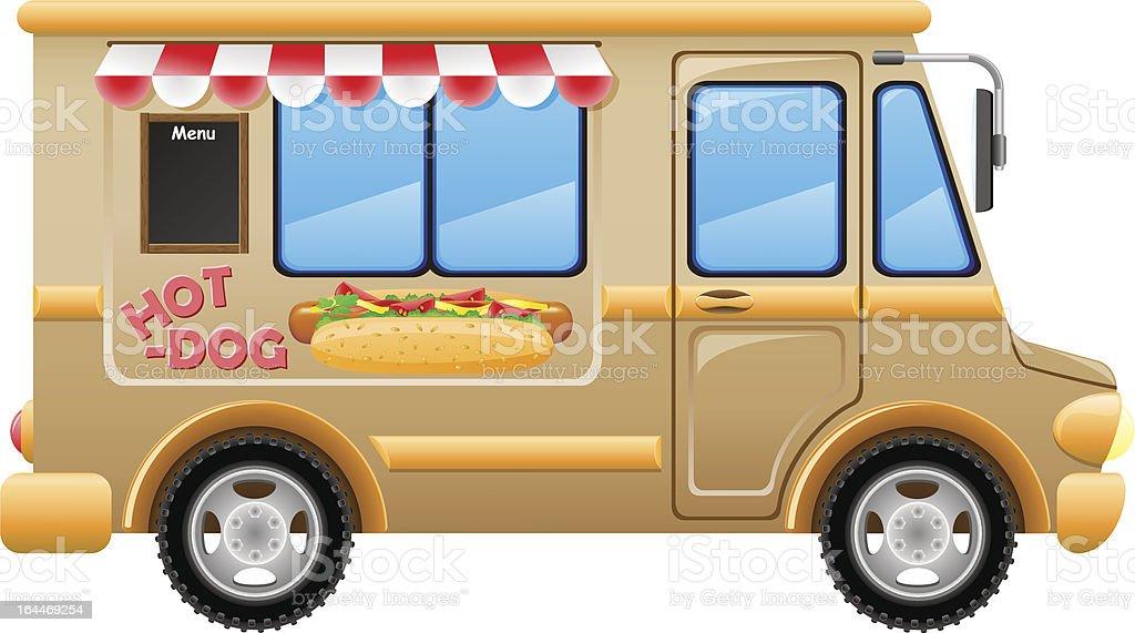 car hot dog fast food vector illustration royalty-free stock vector art