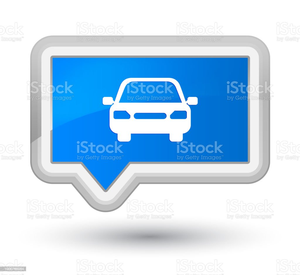 Car icon isolated on prime cyan blue banner button abstract...
