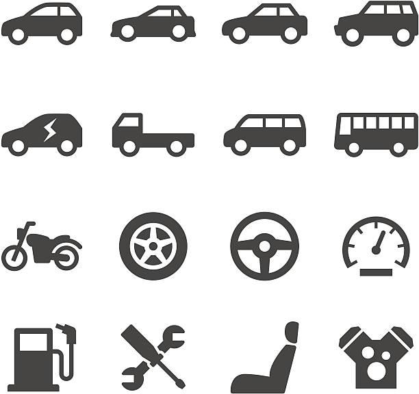 車のアイコン - 車点のイラスト素材/クリップアート素材/マンガ素材/アイコン素材