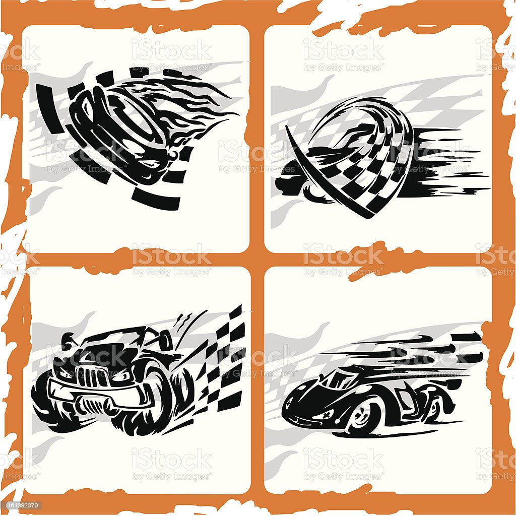 Car. royalty-free car stock vector art & more images of auto racing