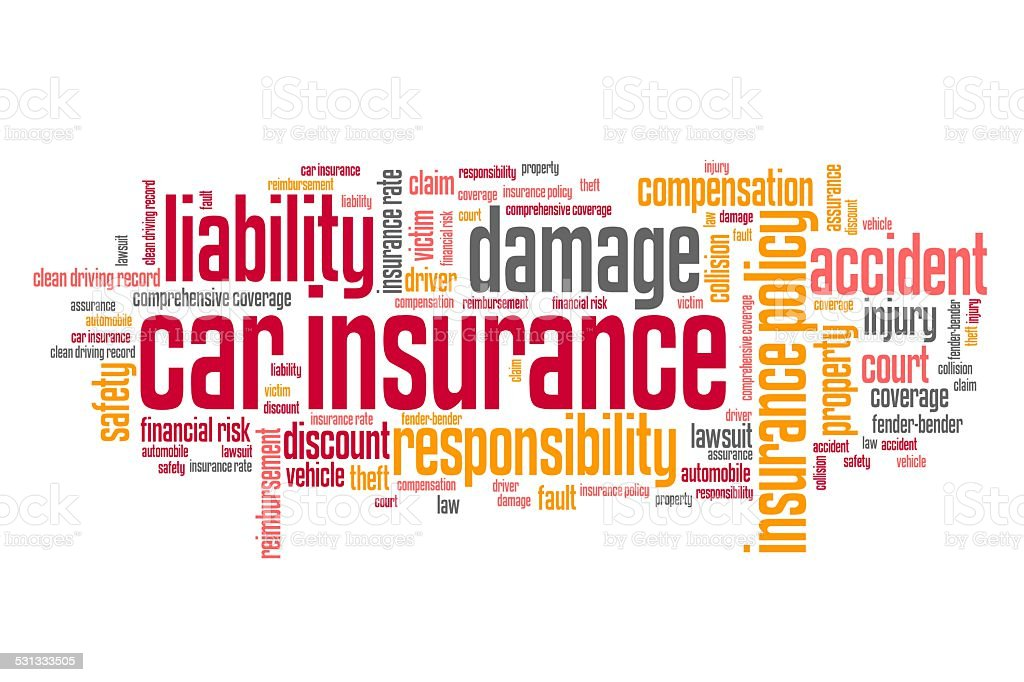 Car insurance industry vector art illustration