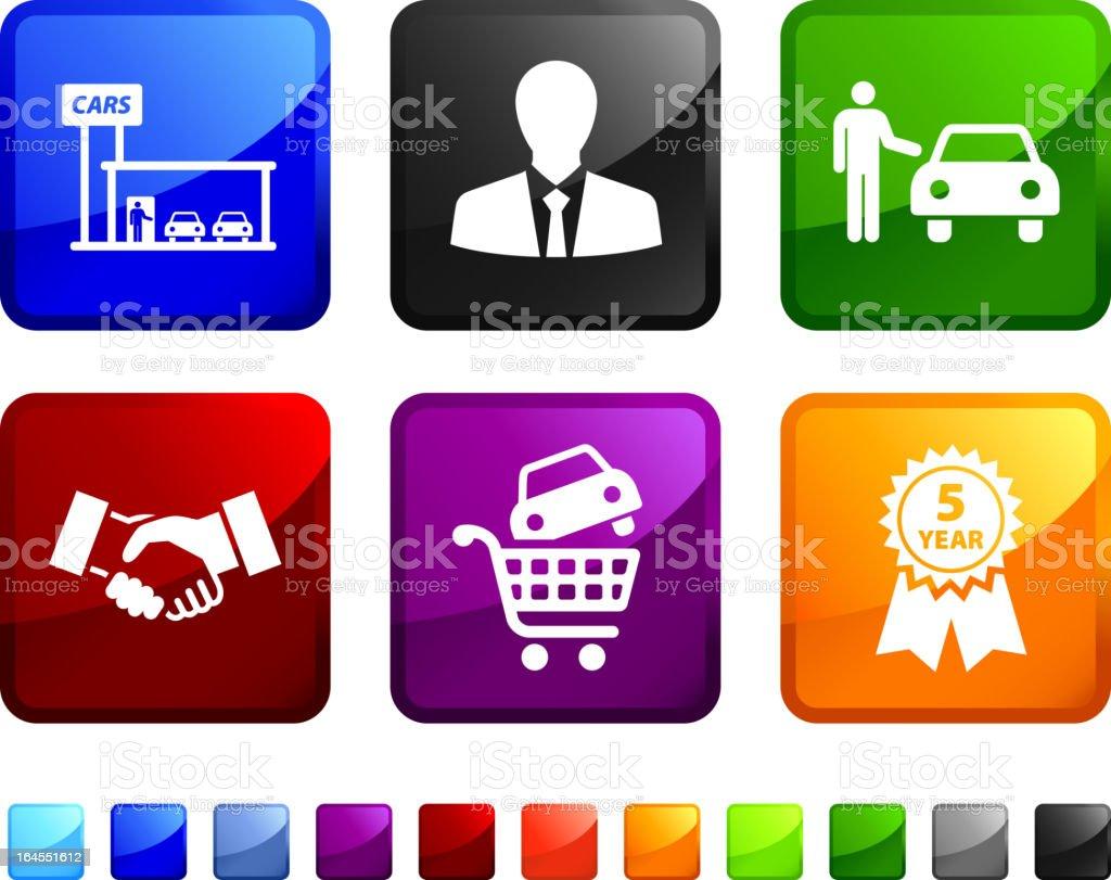 Car Lot royalty free vector icon set royalty-free stock vector art