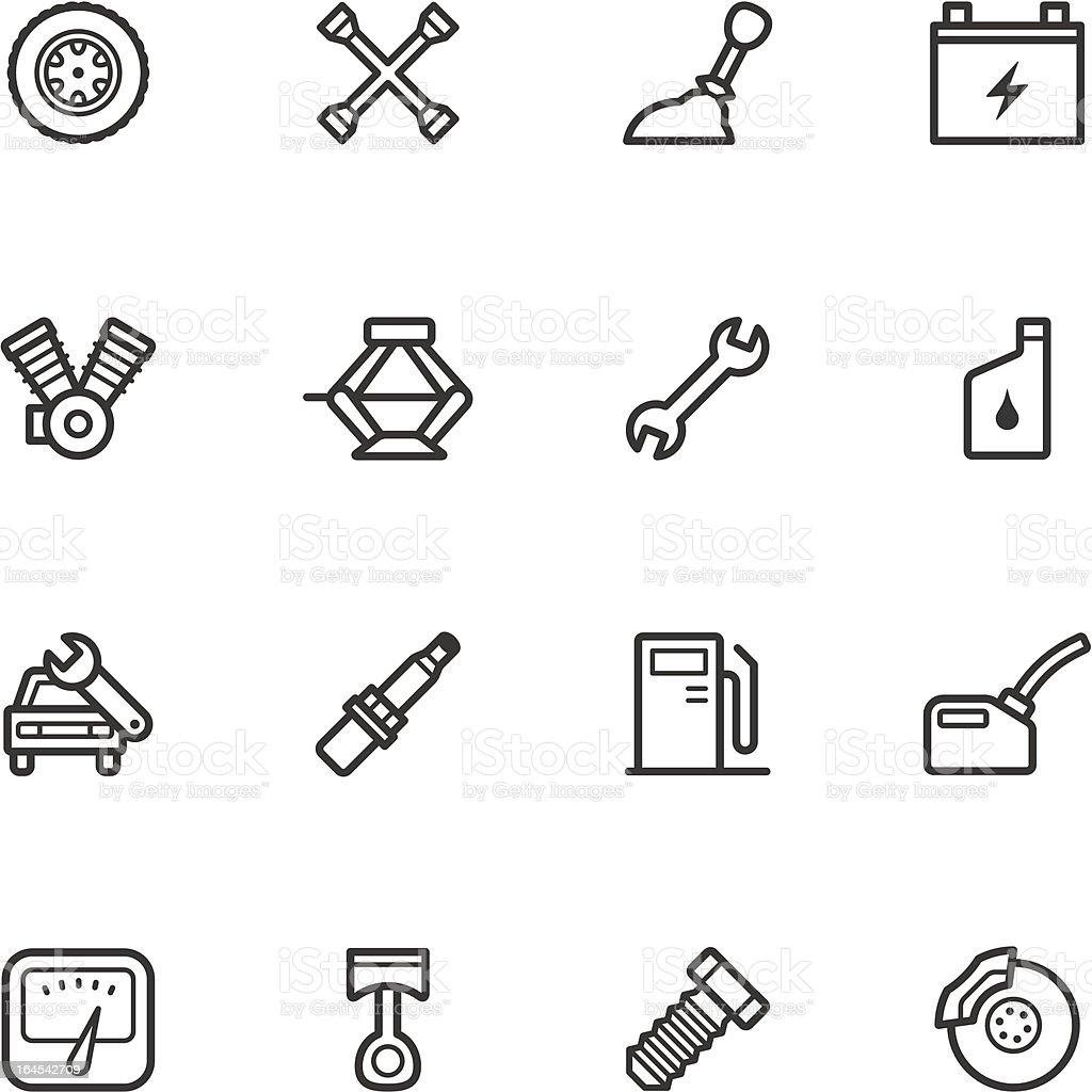 Car Repair Shop Icons royalty-free stock vector art