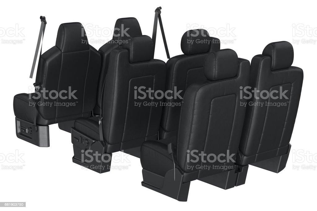 Car seat black vector art illustration