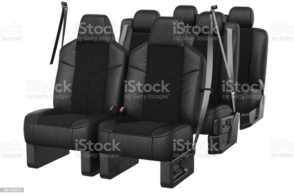 Car seat leather vector art illustration