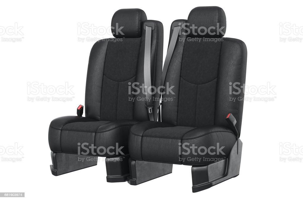 Car seat leather modern vector art illustration