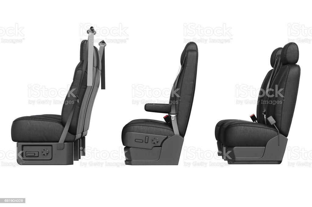 Car seat leather, side view vector art illustration