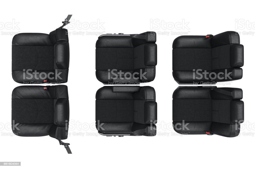 Car seat, top view vector art illustration