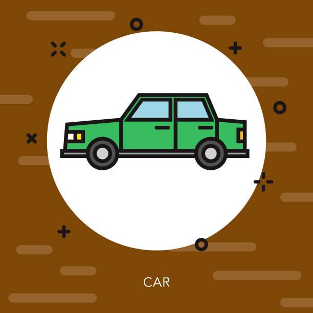 Car Thin Line Germany Icon vector art illustration