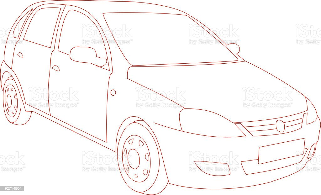 Car Trace (Vector) royalty-free car trace stock vector art & more images of articulated bus