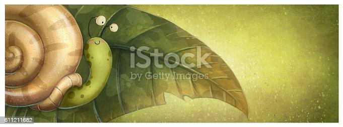 istock caracol en una hoja 611211682