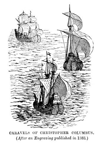 Caravels of Christoher Columbus