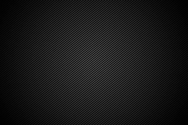 Carbon fiber or metal background design Metal background with lines. brushed metal stock illustrations