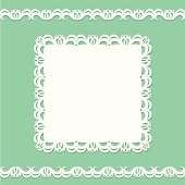 White doily card.