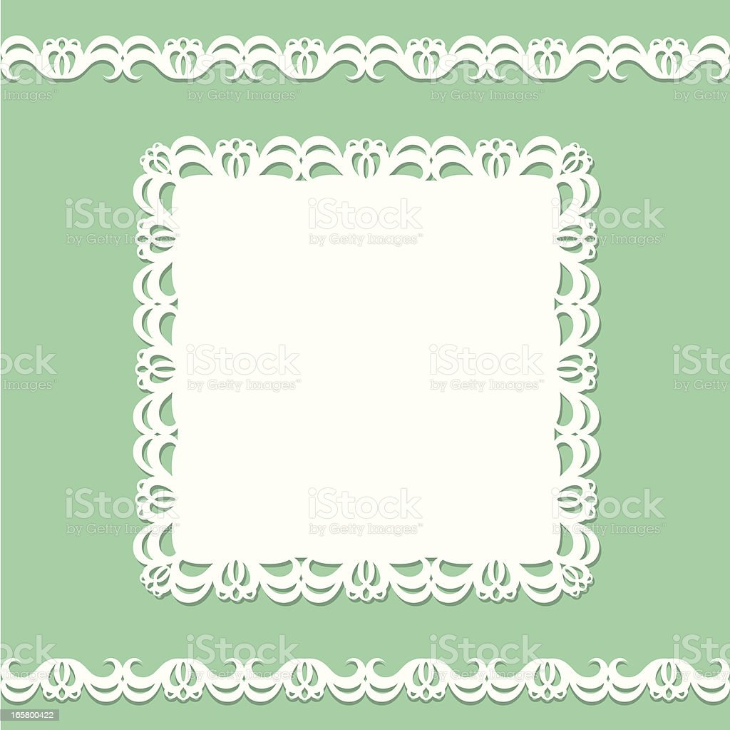Card doily vector art illustration