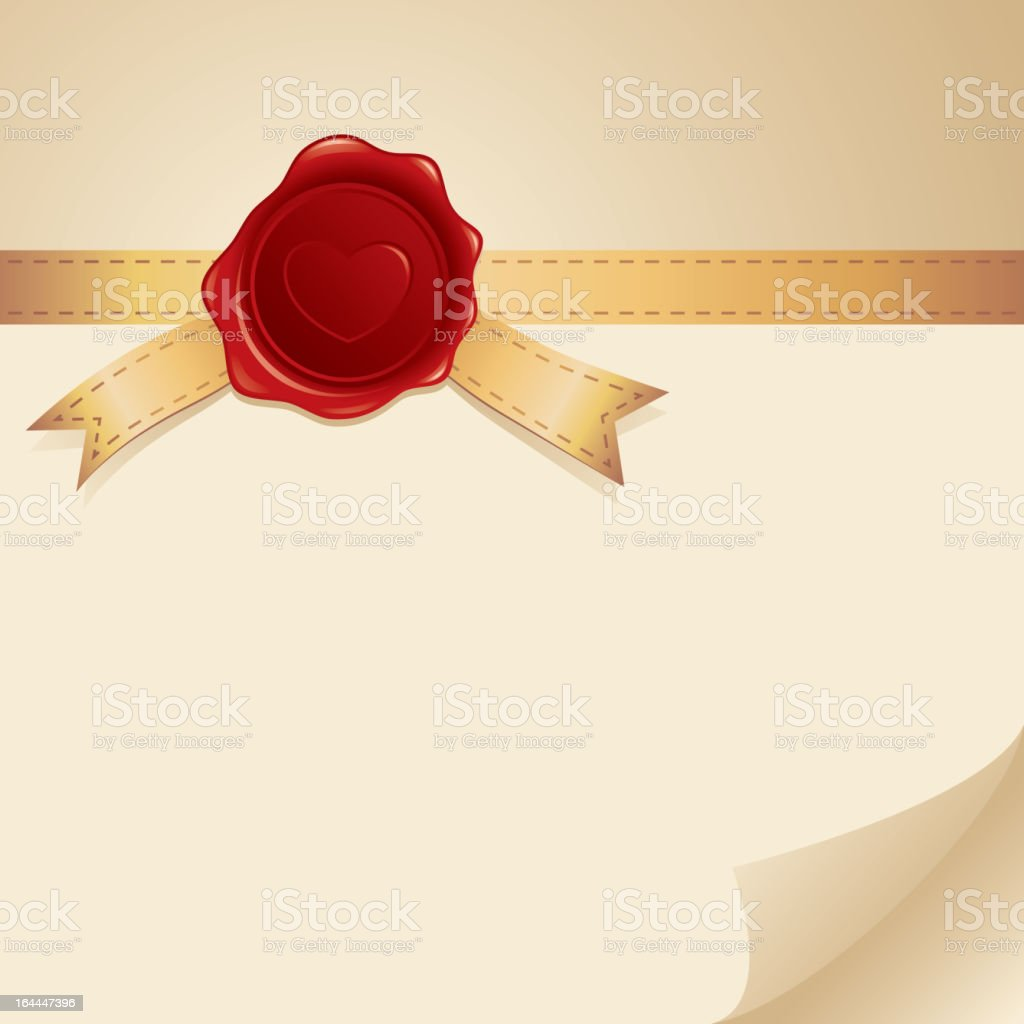 card with stamp royalty-free stock vector art