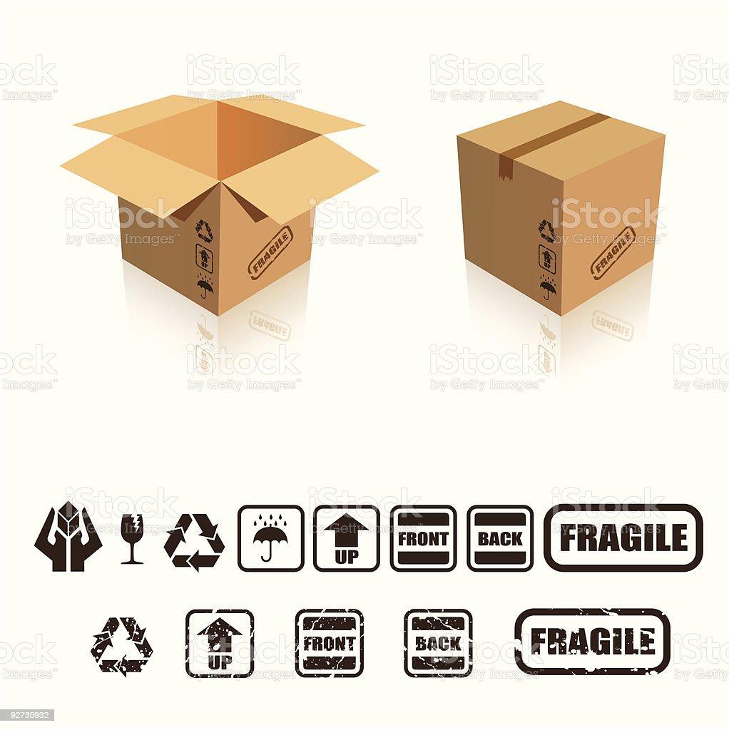 Pappkarton pack Lizenzfreies pappkarton pack stock vektor art und mehr bilder von behälter