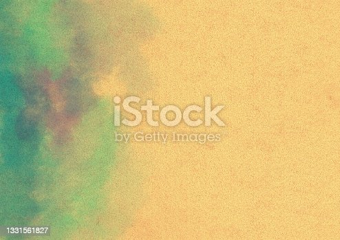 istock Cardboard illustration with blue watercolor frame 1331561827