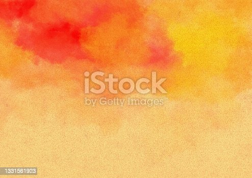 istock Cardboard illustration with red watercolor frame 1331561923