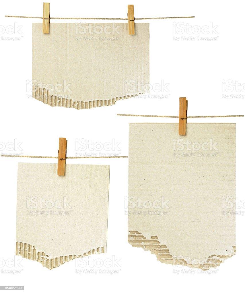 cardboard notes royalty-free stock vector art